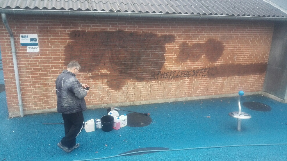 Grafitti rens - Storebælt Tagrens Korsør